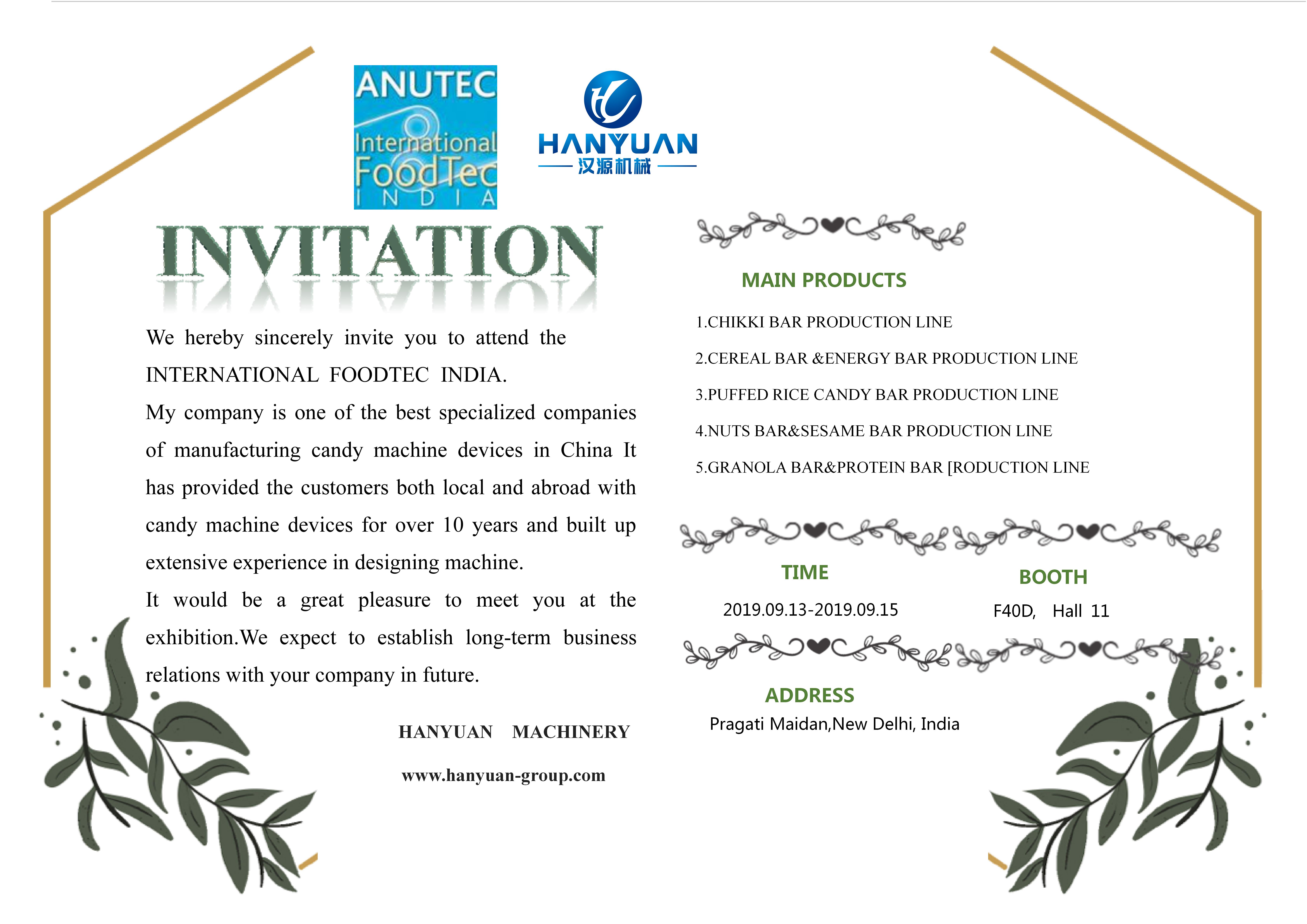 2019 India International FoodTec Exhibition